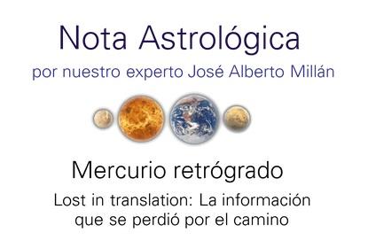 Instituto RAM - mercurio retrogrado